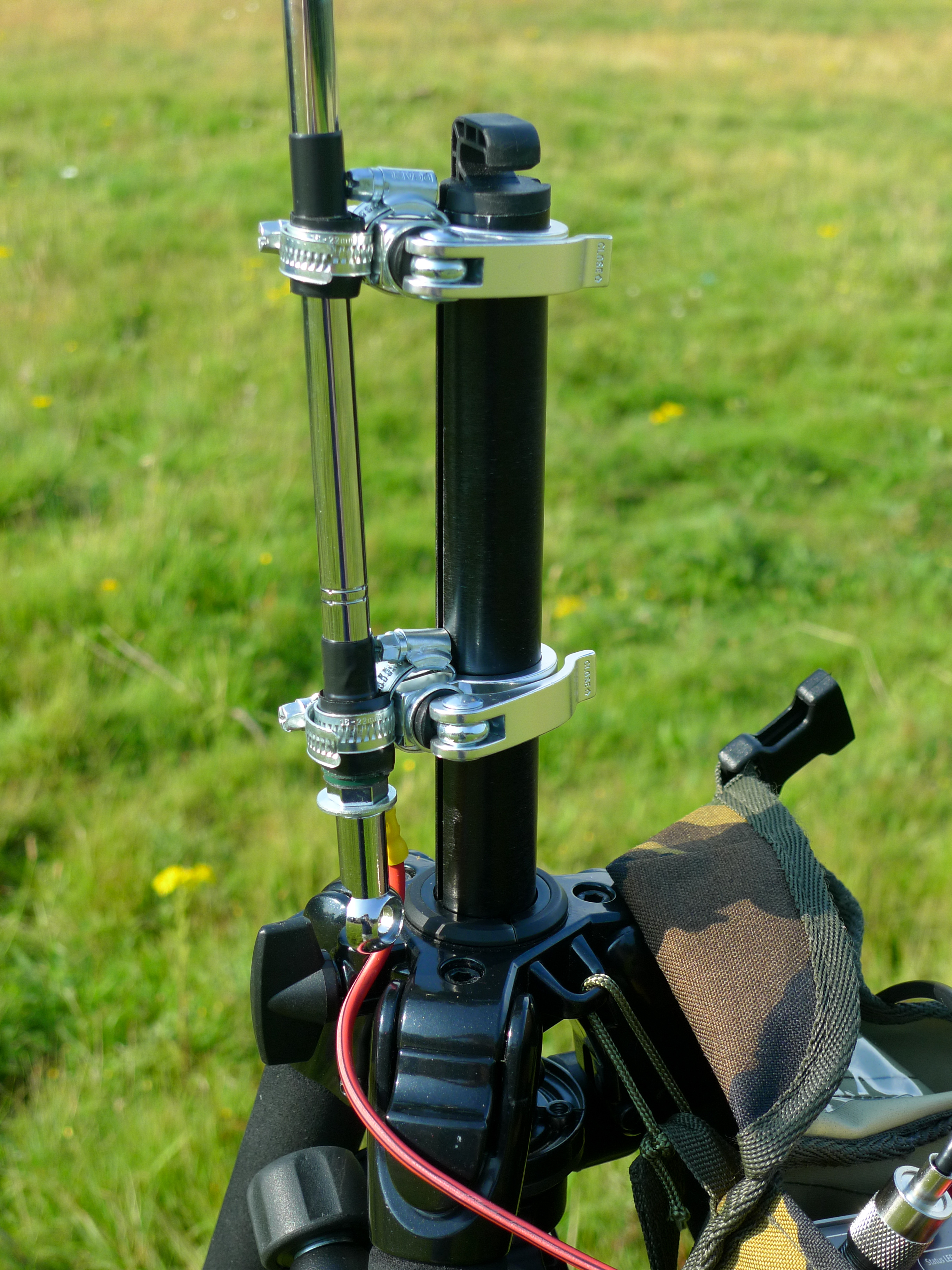 Fast Setup Portable Vertical Antenna Hsh Wiring Mod To Hh Sss Alloutputcom Mounted Tripod Centre Column Using Qr Bicycle Seat Clamps