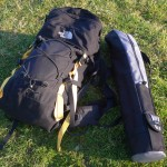 Rucksack and tripod case - G7UHN/P ready to go