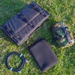 PowerPort radio box, coax feeder, netbook and ATU in camo pouch