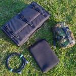 PowerPort radio box, coax feeder, netbook and ATU in camo pouch
