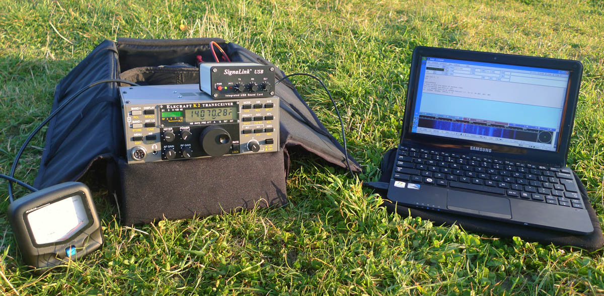 Elecraft K2 operating portable data modes