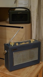A 1970 Hacker Sovereign II acting as extensions speaker for a 2012 Roberts iStream Revival