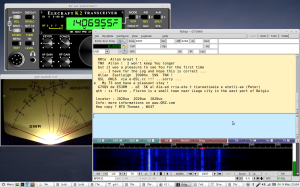 My setup to operate an HF transceiver across the home network is described on another page...