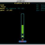 SignaLink USB on RPi - alsamixer F6 1 bcm2835 ALSA
