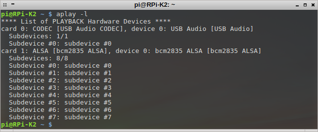 SignaLink USB on RPi - aplay -l
