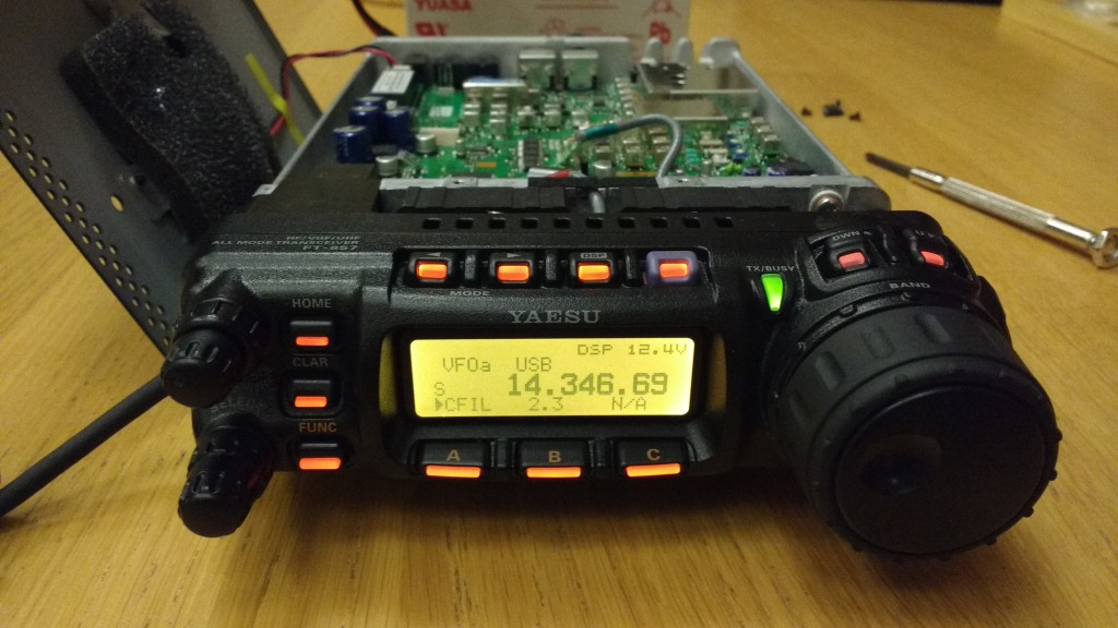 "Yaesu FT-857D displaying Inrad 2.0 kHz filter as ""2.3"""