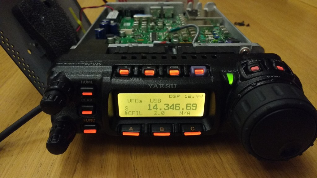 "Yaesu FT-857D displaying Inrad 2.0 kHz filter as ""2.0"""
