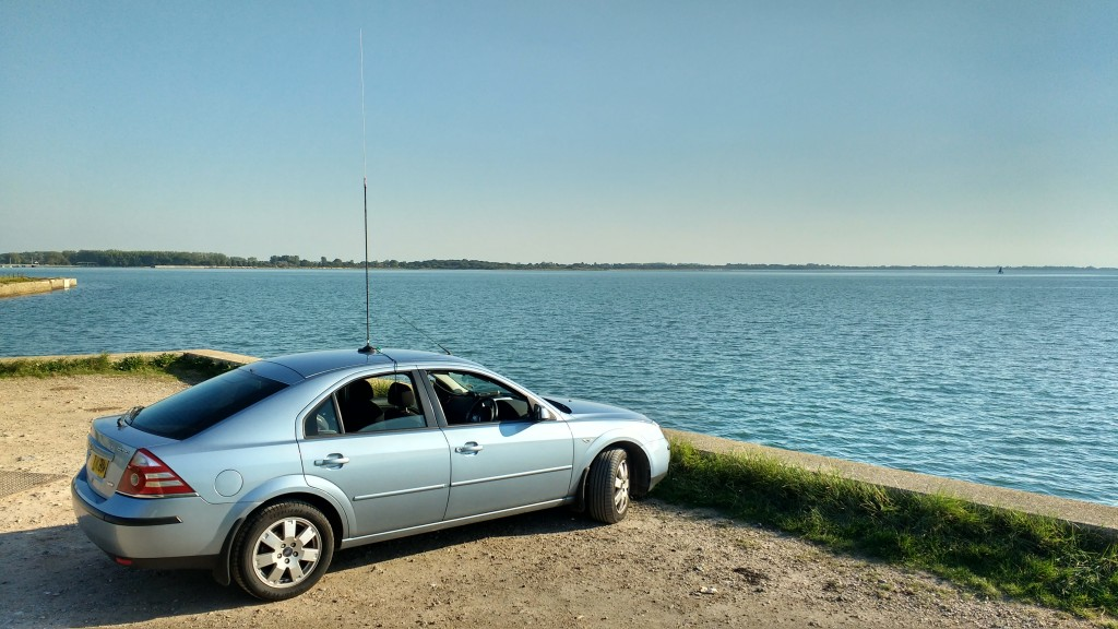 The Ford Mondeo wasn't very interesting but the positive effect of placing vertical antennas beside sea water is!